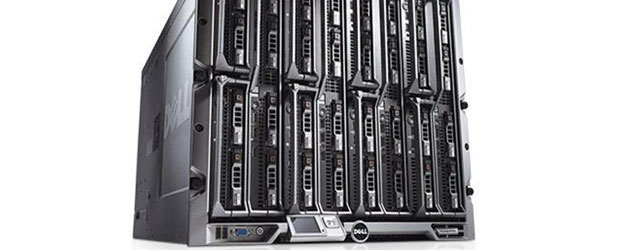 Dell's blade server enclosures are designed to have a smaller footprint.