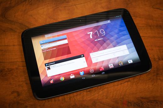 5-Google Nexus 10