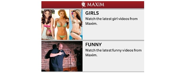 Provided - screenshot of Maxim app by Macadamian