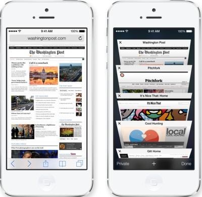 Safari improvements iOS7
