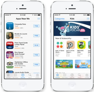 ios7, apps automatic