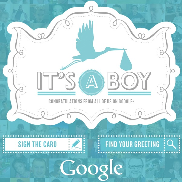 Royal baby card by Google Plus