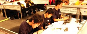 University of British Columbia coding contestants from left to right - Karlming Chen, Paul Liu, and Jonathen Shen.