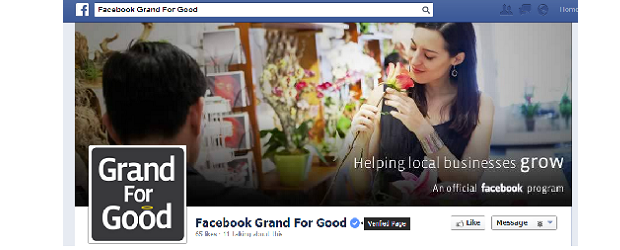 Facebook Canada's Grand for Good page.
