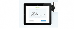 Shopify's POS can swipe credit cards and connect to merchants' online stores.