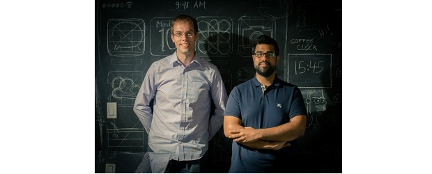 Craig Miller, vice-president of growth at Shopify (left), and Satish Kanwar, co-founder and CEO of Jet Cooper.