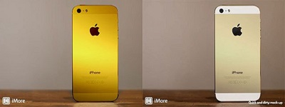 (Image: iMore). Mockup of the golden iPhone 5.