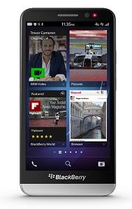 BlackBerry Z30, homescreen.