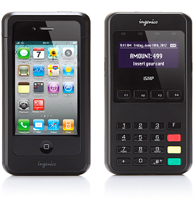 (Image: provided). An ISMP device, equipped with an iPhone 4.