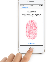 The iPhone 5S comes with a fingerprint scanner, called Touch ID.