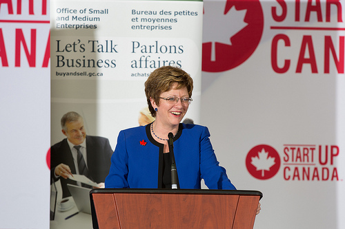 Minister of Public Works Diane Finley met with entrepreneurs on Parliament Hill Nov. 21.