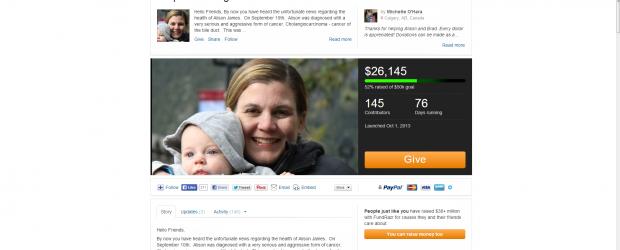 Healthline.com crowdfunding Powered by FundRazr