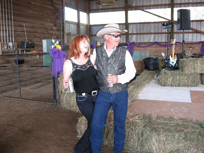 (Image: The Rusty Horseshoe Ranch). Ranch owners Keitrina and Chris Pettican.