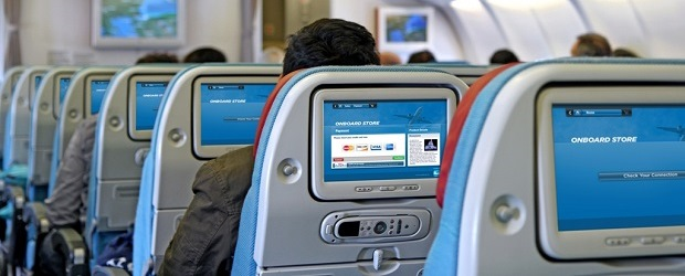 On-board technology for airlines by Guestlogix. (Image: Guestlogix).