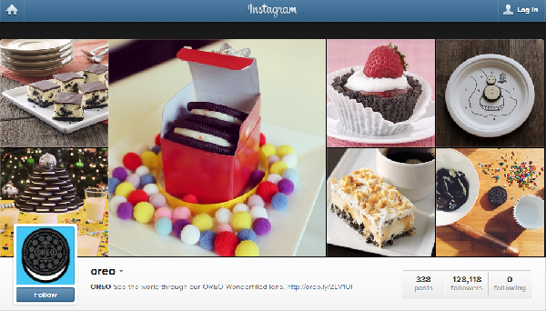 Oreo Instagram - Feb. 19, 2014