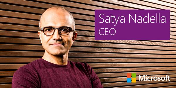 Satya Nadella previous was in charge of Microsoft's cloud services division.