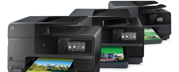 The new 8600 series of printers, geared towards SMBs. (Image: HP).