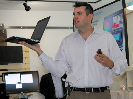 Dell's Andy Rhodes unveils the M2800 Precision workstation.
