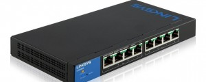 The Linksys Smart Gigabit Switch, 8-port. (Image: Linksys).
