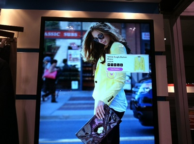 iQmetrix's consumer-facing touchscreen for retailers, on display at Dx3 2014.