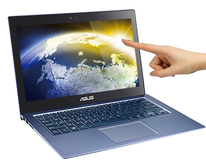 Asus takes advantage of Windows 8's touch screen UI.