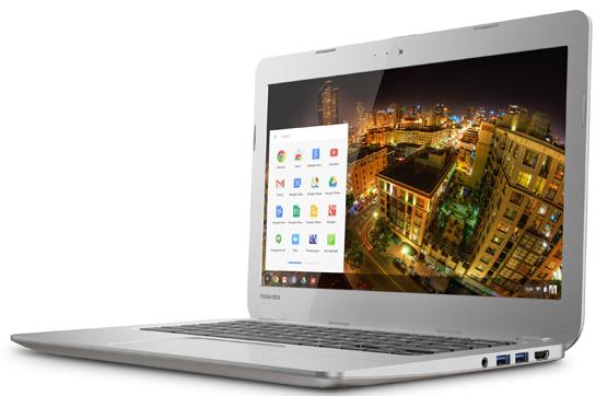 A Toshiba Chromebook. (Image: Toshiba).