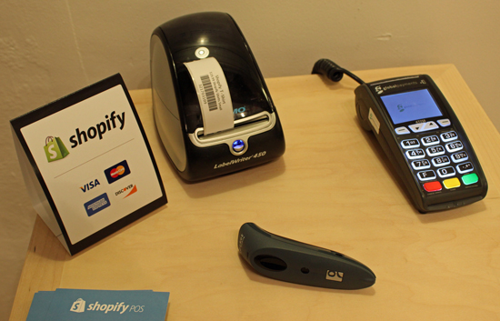 Shopify will also sell you other POS items like a receipt printer.