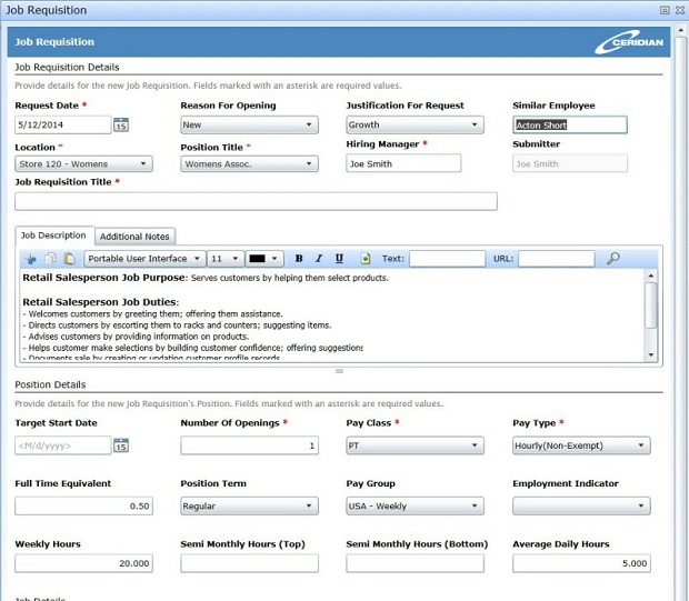 Job requisitions on Dayforce Recruiting. (Image: Ceridian).
