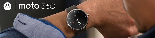The Moto 360 smarwatch. (Image: Google).