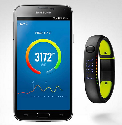 Nike+ Fuel Band. (Image: Nike).