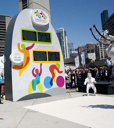 The Cisco Toronto 2015 Countdown Clock in Toronto's Nathan Phillips Square. (Image: Cisco Canada).