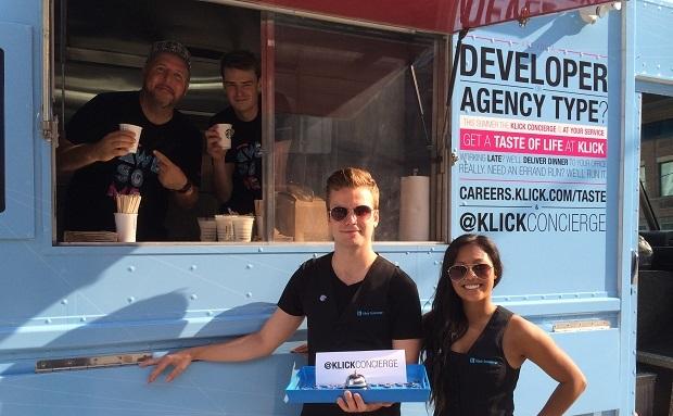 Klick's ice cream truck. (Image: Klick).