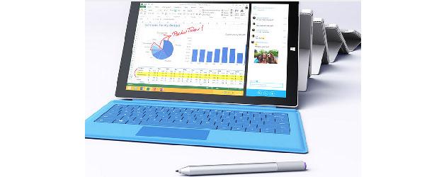 The Microsoft Surface Pro 3. (Image: Microsoft).