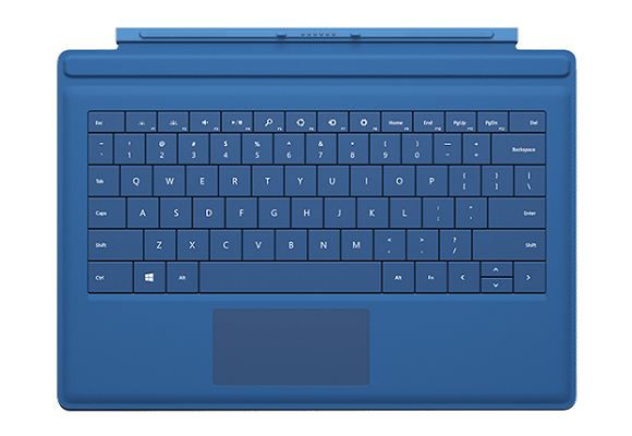 The Type Cover, compatible with the Microsoft Surface Pro 3, costs an extra $129. (Image: Microsoft)