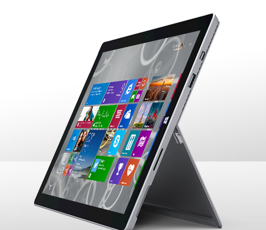 The Microsoft Surface Pro 3 comes with an improved kickstand. (Image: Microsoft).