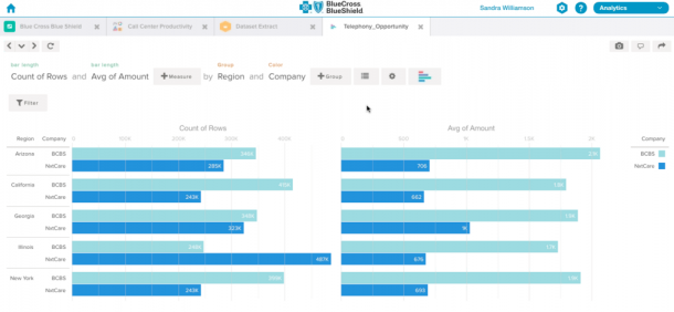 Salesforce Wave - bar graphs
