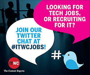 Join our #ITWCjobs Twitter chat