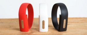Nymi Band in red, white, and black