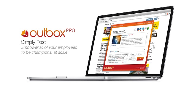 Image of Outbox Pro screen.