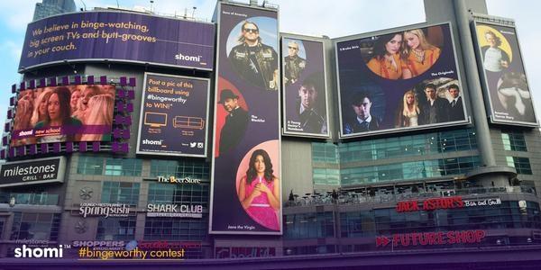 Image of Shomi billboards at Dundas Square