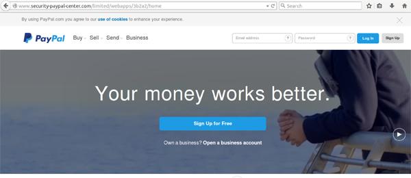 PayPal-Phishing-site
