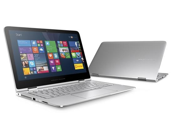 HP Spectre x360 in notebook mode.