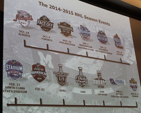 It's a busy season of events, and marketing opportunities for the NHL.