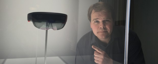 Brian Jackson with HoloLens