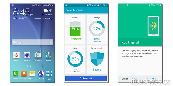 Samsung Galaxy S6 screenshots