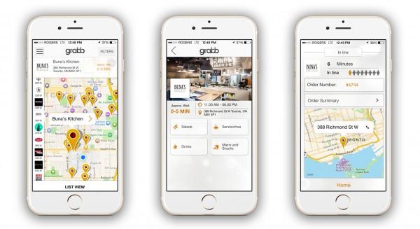 Grabb mobile app payment process
