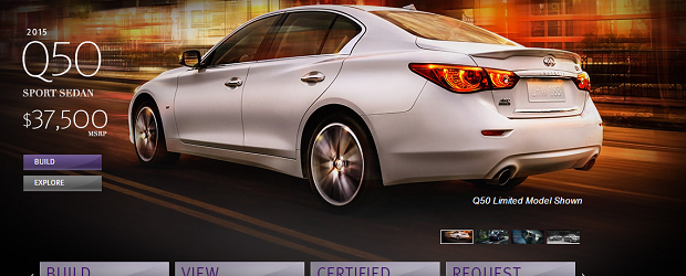 Infiniti's website came out on top