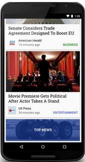 Google news stand