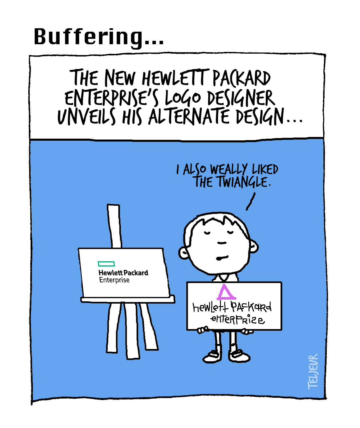 Buffering - HP Enterprise logo