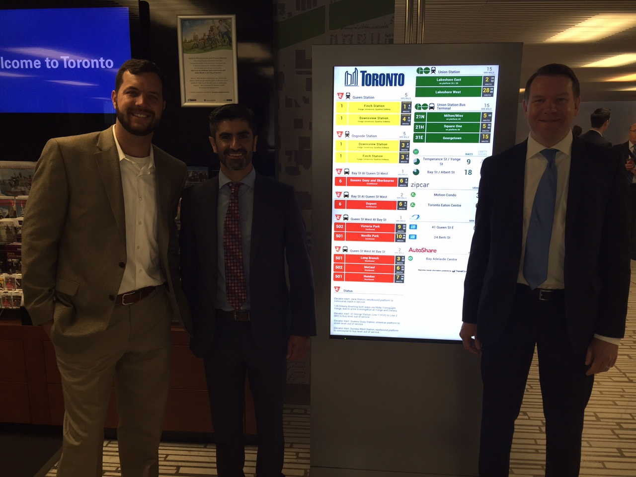 TransitScreen team at City Hall